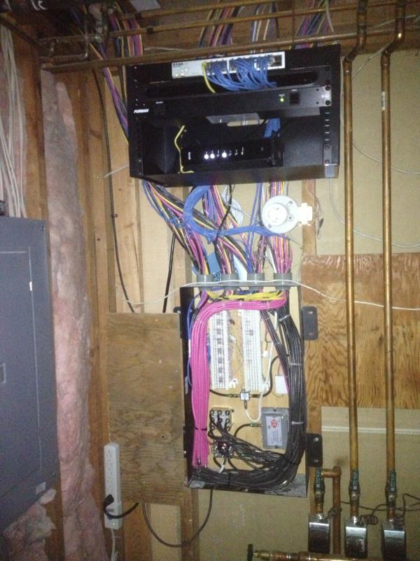 Network closet wiring cleanup in Boulder