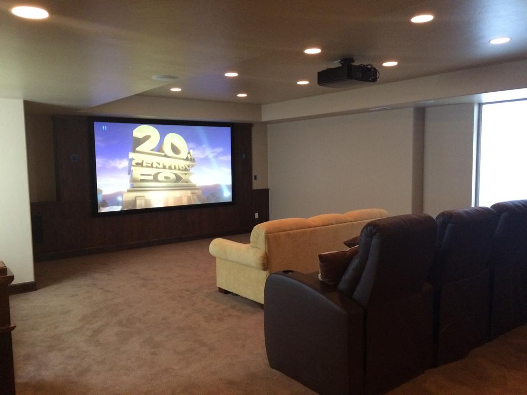 Basement Projection Theater