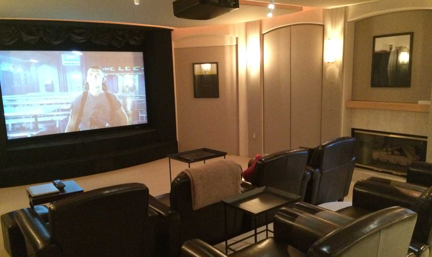 Basement Projection Theater Updated to 4K
