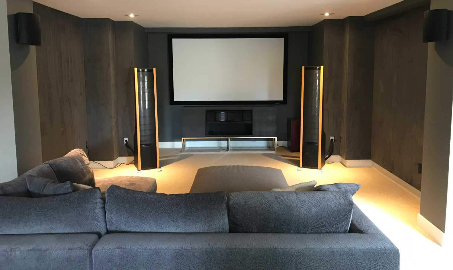 Basement Man Cave w/4K Projection System and Acoustic Panels